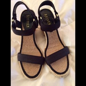 Ralph Lauren Wedge Sandal - Size 9